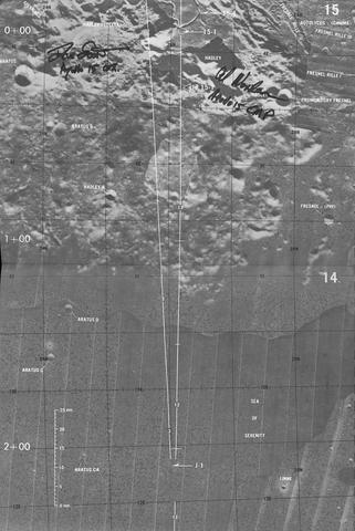 "APOLLO 15 ORBIT MONITOR CHART. ""Orbit Monitor Chart, Apollo 15, July 26, 1971,"" May 3, 1971 (first edition),"