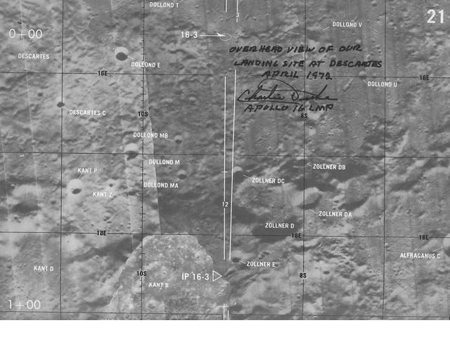 "APOLLO 16 ORBIT MONITOR CHART. ""Orbit Monitor Chart, Apollo 16, April 16, 1972,"" February 4, 1972 (first edition),"