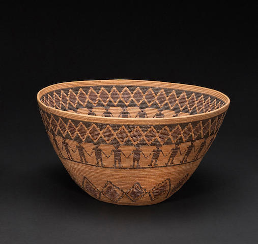 A Yokut polychrome pictorial basket