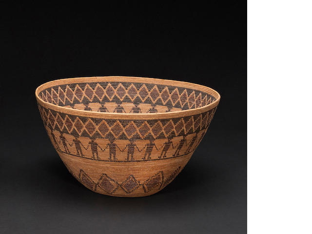 A Yokut pictorial basket