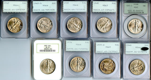 Walking Liberty Half Dollars (9)