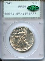 1941 50C Proof 65 PCGS