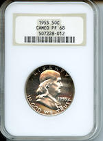 1955 50C Proof 68 Cameo NGC