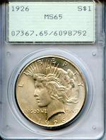 1926 $1 MS65 PCGS