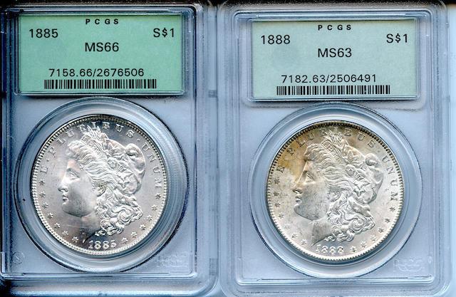 1885 $1 MS66 PCGS