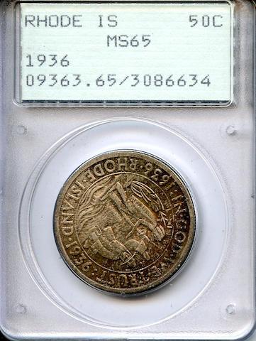 1936 Rhode Island 50C MS65 PCGS