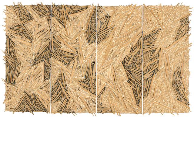 Charles A. Arnoldi (born 1946) Hemlock, 1986 overall 89 x 150 x 2 1/2in (226.1 x 381 x 6.4cm)