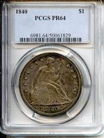 1840 $1 PR64 Pop 3-0