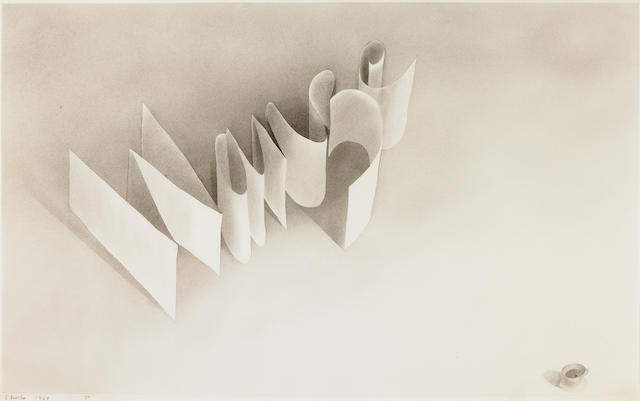Edward Ruscha (born 1937) Wanze, 1967 14 1/2 x 22 1/2in (36.8 x 57.1 cm)