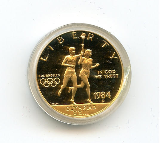 1984-D Proof Olympic Gold $10