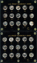Proof Roosevelt Dime Sets, 1950-1964 (5)