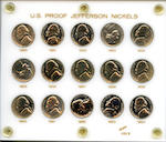 Proof Jefferson Nickel Sets, 1950-1964 (5)