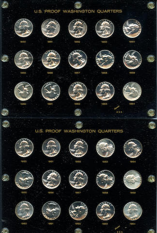 1950-1964 Proof Washington Quarter Sets (5)