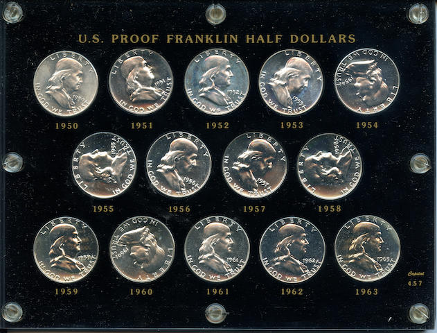 1950-1963 Proof Franklin Half Dollar Set