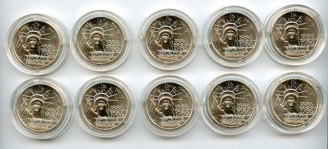 France, 1986 100 Franc Silver Pieforts (10)