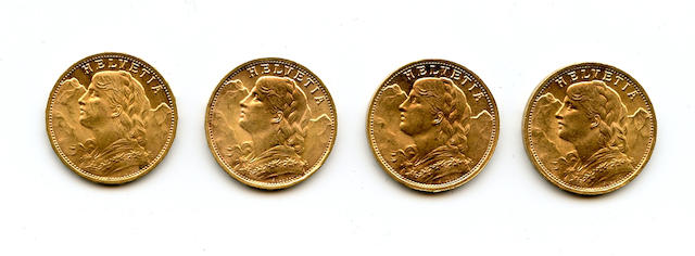 Switzerland, Gold 20 Francs (4)