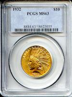 1932 $10 MS63 PCGS