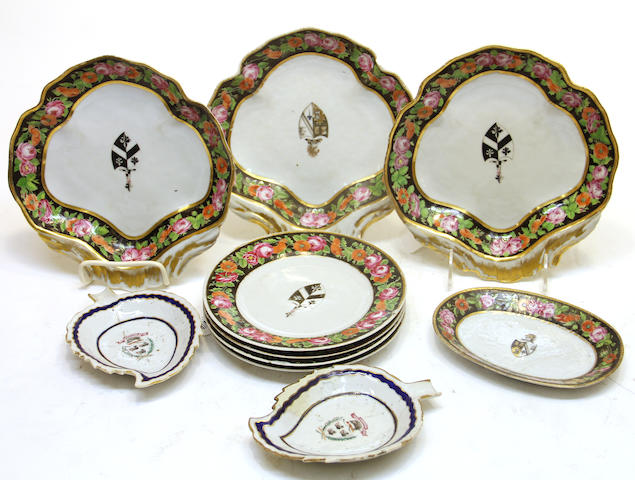 Ten pieces of Chinese export armorial porcelain late 18th/early 19th century late 18th/early 19th century