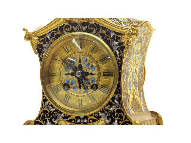 A champlevé clock