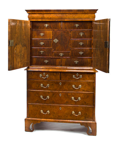 A William & Mary walnut escritoire <BR /> fourth quarter 17th century