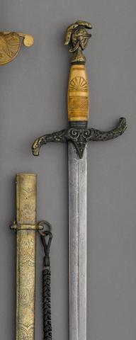 A militia officer's sword