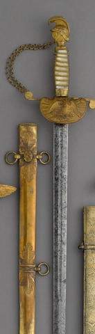 A militia artillery officer's sword by Nathan P. Ames