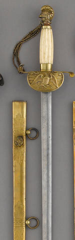 A scarce militia medical officer's sword by Ames