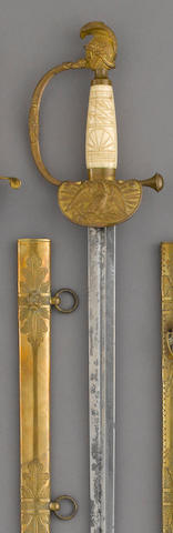A militia artillery officer's sword by Nathan P. Ames, Springfield, Massachusetts