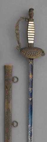 A militia artillery officer's sword