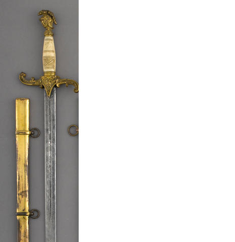 A militia staff officer's sword