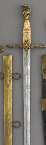 An Ames-assembled militia staff officer's sword