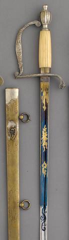 A militia infantry officer's sword retailed by Horstmann & Sons, Philadelphia