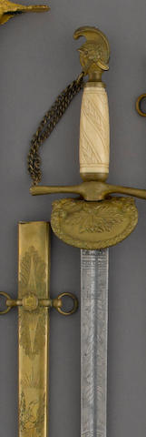 A militia officer's sword retailed by Horstmann & Sons of Philadelphia