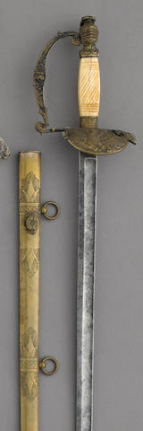 A militia infantry officer's sword retailed by W.H. Horstmann & Sons
