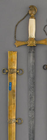 A militia officer's sword by Nathan P. Ames, Springfield, Massachusetts