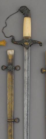 A militia staff officer's sword