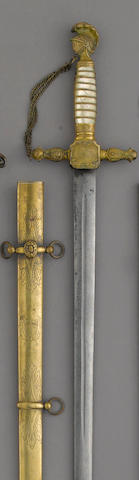 A militia staff officer's sword by Ames Mfg. Co.