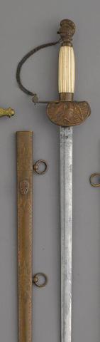 A militia artillery officer's sword