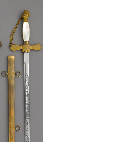 An unusual early 20th century sword in the militia staff officer style of 1840-60