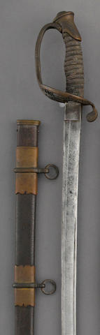 A U.S. Model 1850 foot officer's sword by Kirschbaum