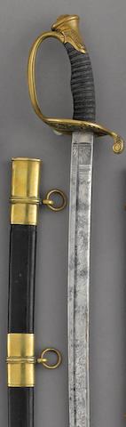 A U.S. Model 1850 foot officer's sword