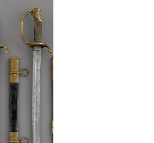 A deluxe U.S. Model 1850 foot officer's sword