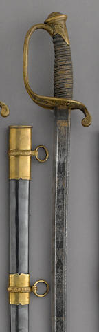 A U.S. Model 1850 foot officer's sword