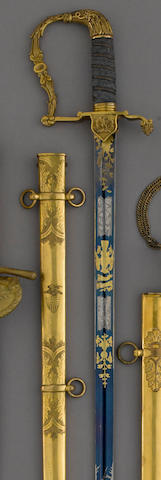 A militia artillery officer's sword of unusual form