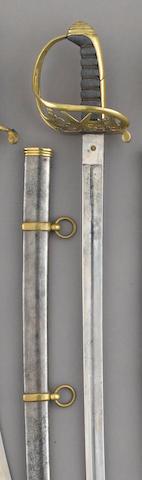A brass-hilted Civil War era non-regulation foot officer's sword