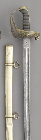 A German silver mounted Civil War era non-regulation foot officer's sword