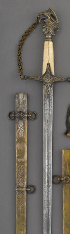 A militia infantry staff officer's sword