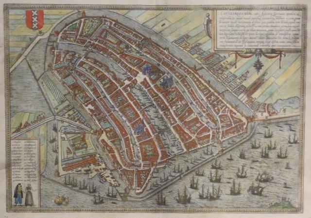 BRAUN, GEORG, AND FRANS HOGENBERG. Amstelredamum. [Cologne: Braun & Hogenberg, c.1573-1618.]