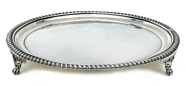 A George III silver salver<BR />Solomon Houghman, Solomon Royes & John East Dix, London, 1817