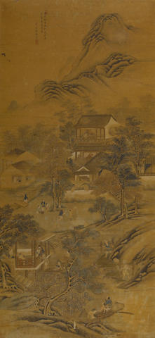 Signed Xue Jin (18th-19th century) Scenes of Rice Production from the Gengzhi Tu, c. 1800